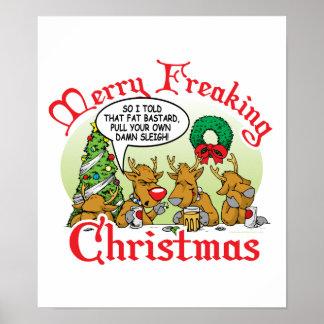 Xmas Reindeer Print