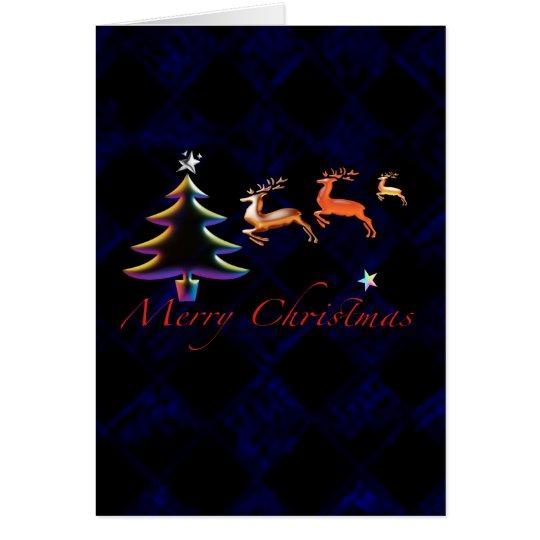 Xmas Reindeers Merry Christmas Card