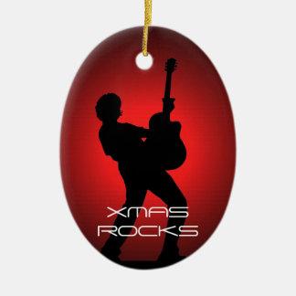 Xmas Rocks Christmas Ornament