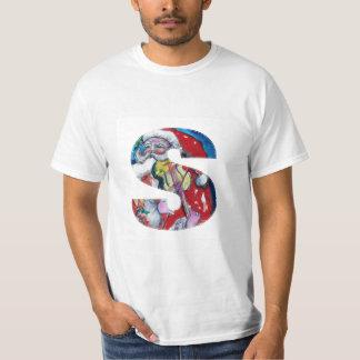 XMAS S LETTER /SANTA  CLAUS WITH VIOLIN MONOGRAM T-Shirt