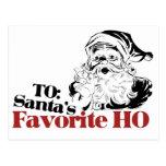 XMAS Santas Favorite HO Post Card