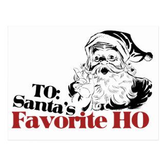 XMAS Santas Favorite HO Postcard