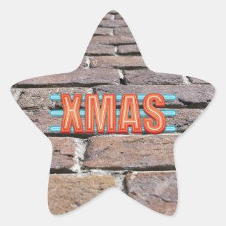 XMAS Sign Star Sticker