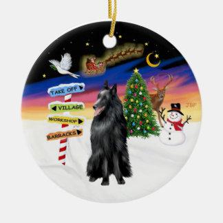 Xmas Signs - Belgian Sheepdog Ornament