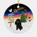 Xmas Signs - Black Toy Poodle Christmas Tree Ornaments