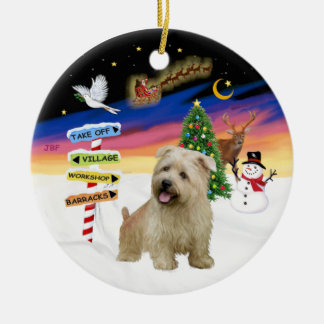 Xmas Signs - Glen of Imaal Terrier Ceramic Ornament
