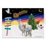 Xmas Signs - Mama Llama and Baby Greeting Card
