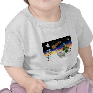 Xmas Signs - Mama Llama and Baby T Shirts