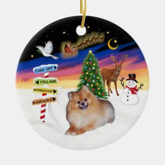 Xmas Signs - Pomeranian 4 Ornaments