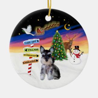 Xmas Signs - Schnauzer puppy Christmas Tree Ornaments