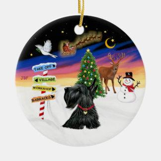 Xmas Signs - Scottish Terrier 12 Christmas Tree Ornament