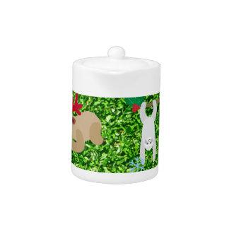 xmas sloth teapot