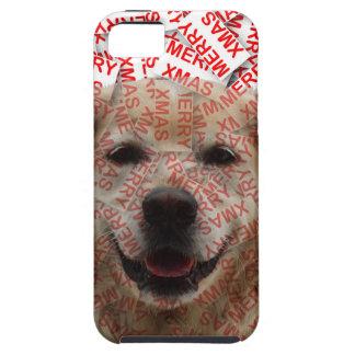 Xmas Smiling Golden Retriever Dog iPhone SE/5/5s Case