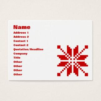 Xmas Snowflake Christmas Pattern Business Card