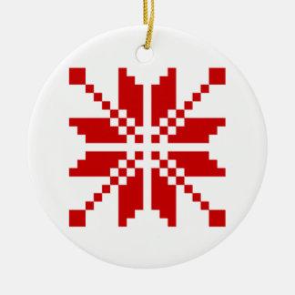 Xmas Snowflake Christmas Pattern Ceramic Ornament