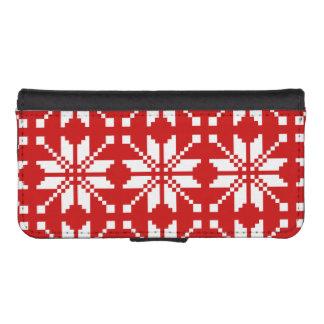 Xmas Snowflake Christmas Pattern iPhone SE/5/5s Wallet