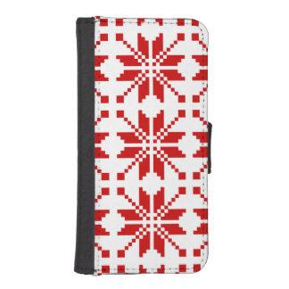 Xmas Snowflake Christmas Pattern iPhone SE/5/5s Wallet Case