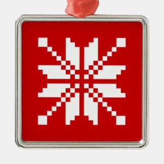 Xmas Snowflake Christmas Pattern Metal Ornament