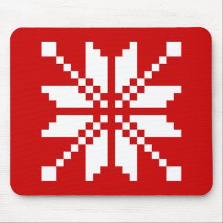 Xmas Snowflake Christmas Pattern Mouse Pad