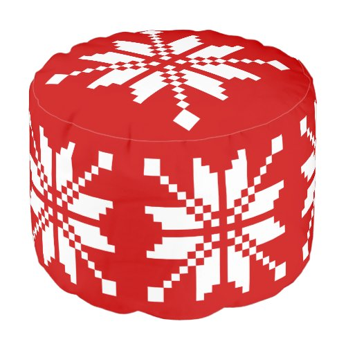 Xmas Snowflake Christmas Pouf