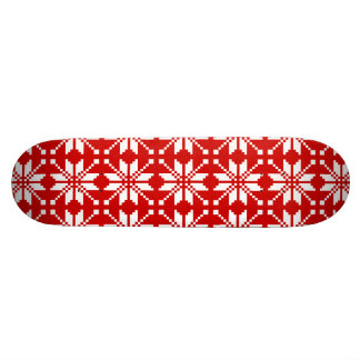 Xmas Snowflake Christmas Pattern Skateboard Deck