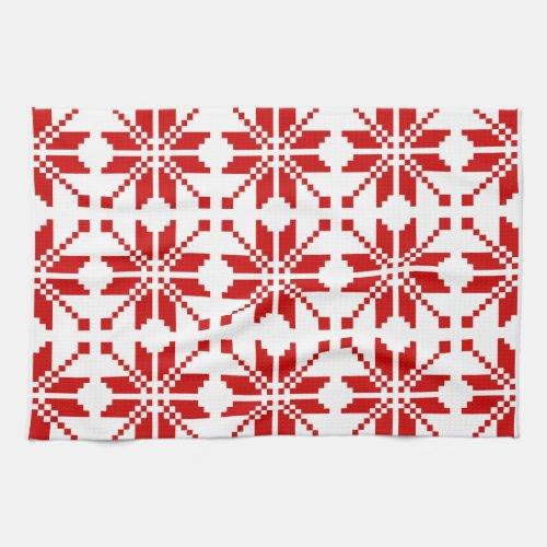 Xmas Snowflake Christmas Pattern Towels