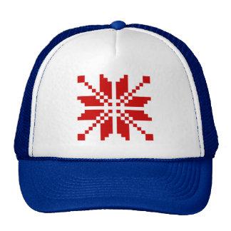 Xmas Snowflake Christmas Pattern Trucker Hat