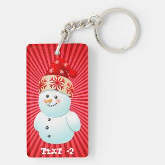 Xmas Snowman Keychain