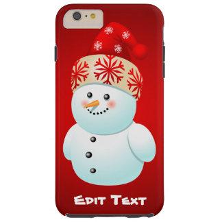 Xmas Snowman Tough iPhone 6 Plus Case