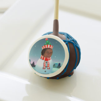 Xmas Snowman With Customized Face Cake Pops