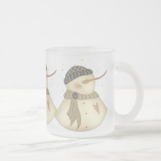 Xmas Snowmans Heart Mug