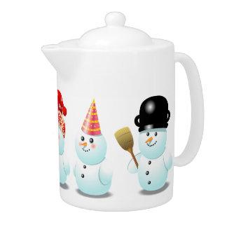 Xmas Snowmen Teapot