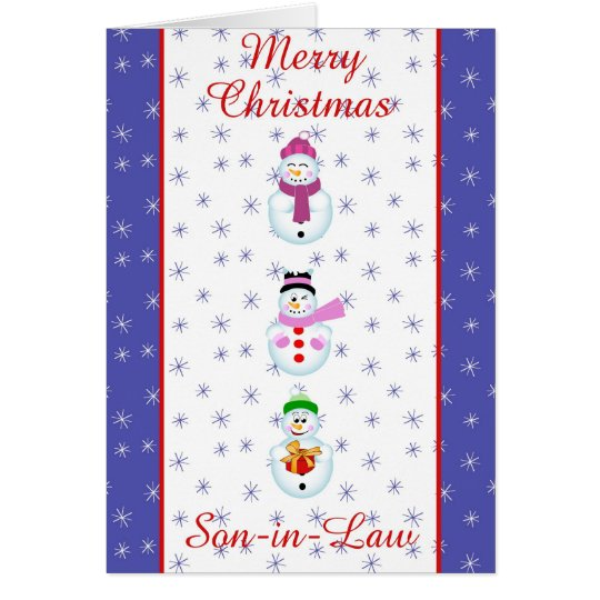 Xmas son in law greeting card