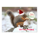 Xmas Squirrel in Snow 5x7 Paper Invitation Card