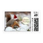 Xmas Squirrel in Snow Postage