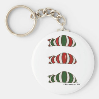 Xmas Stacking Cats Keychain