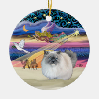 Xmas Star - Blue Smoke Himalayan cat Christmas Ornaments