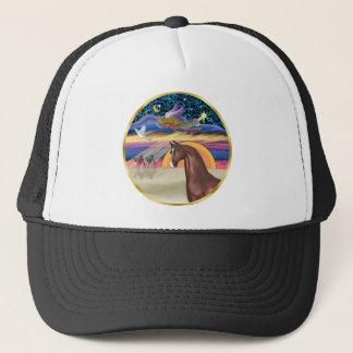Xmas Star - Brown Arabian Horse Trucker Hat