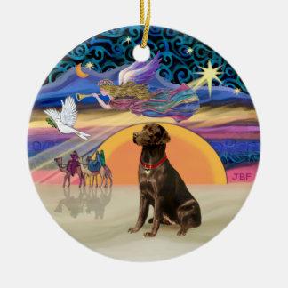 Xmas Star - Chocolate Labrador Ornament