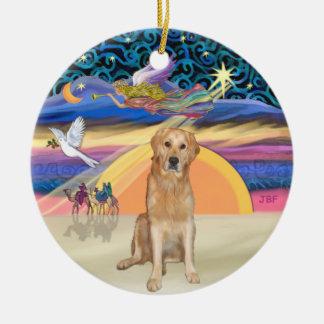 Xmas Star - Golden Retriever (K) Ceramic Ornament