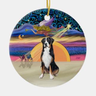 Xmas Star - Greater Swiss Mountain Dog Ceramic Ornament