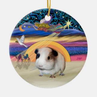 Xmas Star - Guinea Pig #1 Ceramic Ornament