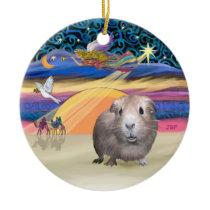 Xmas Star - Guinea Pig #2 Ceramic Ornament