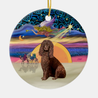 Xmas Star - Irish Water Spaniel Ceramic Ornament