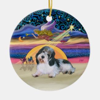 Xmas Star - Petit Basset 8 Ceramic Ornament