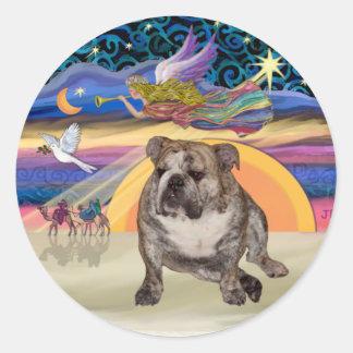 Xmas Star (R) - English Bulldog 2 Stickers