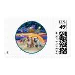 Xmas Star (R) - Two English Bulldogs Postage Stamp
