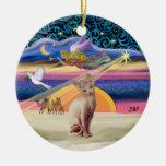Xmas Star - Sphynx cat (fawn) Ornament