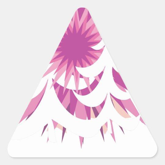 Xmas star triangle sticker