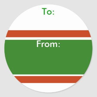 Xmas Stripe Holiday Gift Tag Stickers